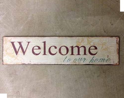 Blechschild Welcome in einem trendy Design